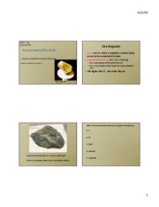 lecture 8 rock mineral resources