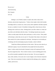 Ideology paper