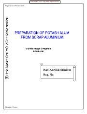 how to prepare potash alum