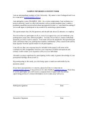 SAMPLE informed consent form - any elements missing0