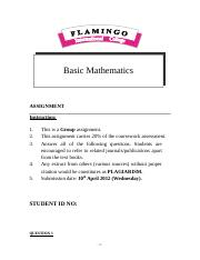 Basic Maths Assignment 2013.doc