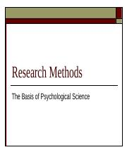 Research Methods Revised 2015