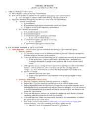 Con Law II Outline - Bill of Rights - Kang.doc
