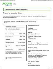recipt pdf - Transfer Receipt | Xoom a PayPal Service 1 of 2 https