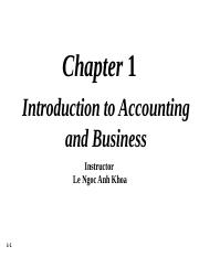 FA - Lecture 1 - Chapter 1 Introduction to Accountign and Business(1)