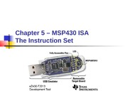 Chapter 05a - MSP430 ISA