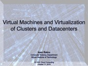 9. Virtual Machines and Virtualization of Clusters and Datacenters