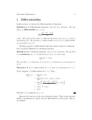 differentiability, mean value theorem and LHopital rule.pdf