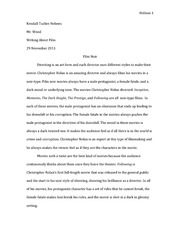 ENG 152 - Writing about Film - Research Paper