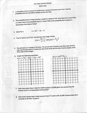 Final Review Session Problems and Answers