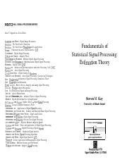 Statistical processing pdf theory fundamentals of estimation signal