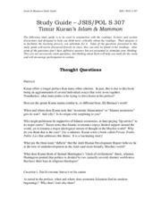307 Study Guide Islam and Mammon (updated).pdf