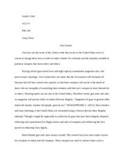 guncontrol essay