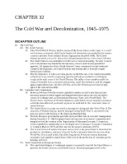 31 - The Cold War and Decolonization, 1945 - 1975