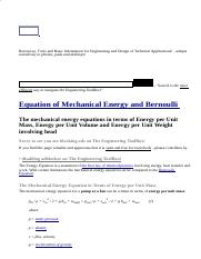 Equation of Mechanical Energy and Bernoulli.htm