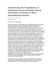 Undermining the Foundations of Organized Crime and.docx