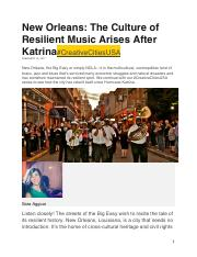 Aggour, Sarah (2017). New Orleans The Culture of Resilient Music.pdf