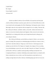 eudora welty one writers beginnings ap essay