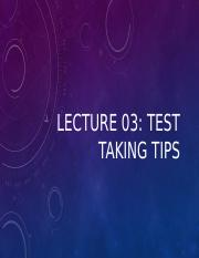 Lecture 03- Test Taking.pptx