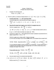 Answers - Problem Set 1 (Producer and consumer surplus