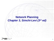 Chapter 3 Network Planning