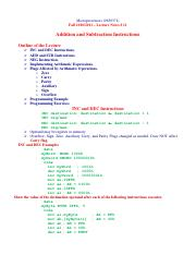 Lecture 11 Addition and Subtraction Instructions.pdf