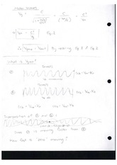 Class Note Matter Wave Formula and Graph
