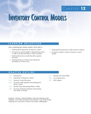 Chapter 12 Inventory Control Models