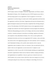 swot analysis hca 340 Swot starbucks swot analysis 2013 to buy this material click below link.