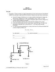 ece2274_MOSFET_basicsLT pdf - EE 2274 MOSFET BASICS Pre Lab 1