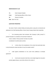 MEMORANDUM OF LAW