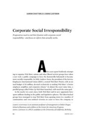 Corporate Social irrisponsibility Reading