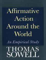 Affirmative Action Around the World An Empirical Study - Thomas Sowell