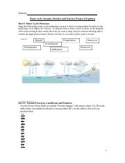 Water cycle, Streams, Beaches and Glaciers Project.docx