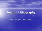 Nano Labs (Lec3 imprint lithography)