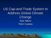 US Cap-and-Trade System to Address Global Climate Change pp.1-14