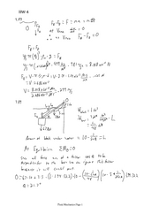 Fluid Mechanics HW4