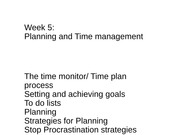 lec 5-time management