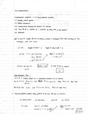 Chapter 4.5 Class Notes Optimization
