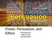power persuation ethics final ch 5 moran