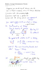 PHYS 12 Relative, Average & Instantaneous Velocity Notes