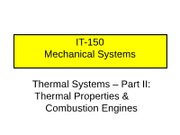 Thermal Systems II