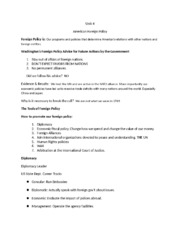 Unit 4 Civil American Foreign policy notes