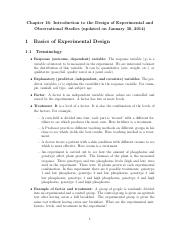 Notes Part 1 - Basics of Experimental Design