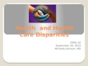 lecture 2- health and disparities