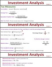 Investment Analysis Formula 2
