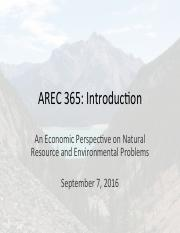 AREC 365 Lecture 1 Sept 7