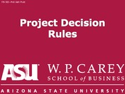 FIN302 10 Project decision rules