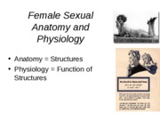 Outline Female sexual physiology and health concerns
