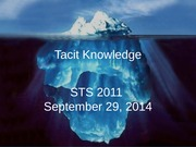 Lecture on tacit knowledge